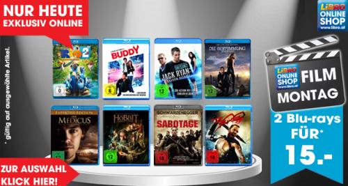 """Libro """"Film Montag"""": 2 BluRays um 15 € - bis zu 50% sparen"""