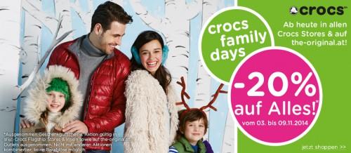 """""""Crocs Family Days"""": 20% auf Alles - lokal und online"""