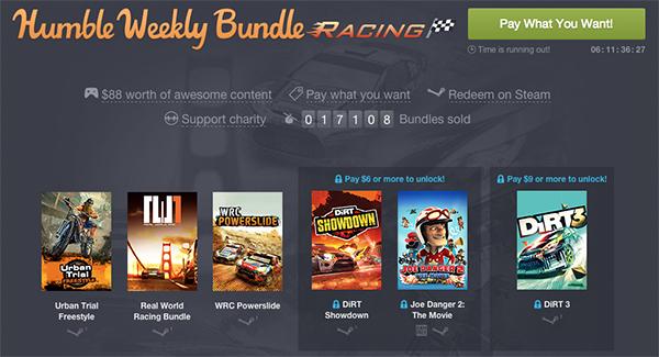 """Humble Weekly Bundle """"Racing"""" - bis zu 6 Spiele ab 1 $ (0,81 €)"""