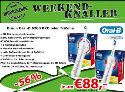 [Schnell] OralB Pro 6200 oder OralB TriZone 6200 um 88 € - bis zu 25% sparen