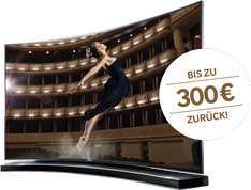 Samsung: bis zu 300 € Cashback beim Kauf eines Samsung Curved TV