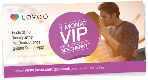 Lovoo: 1 Monat VIP Mitgliedschaft gratis - 11,99 € sparen