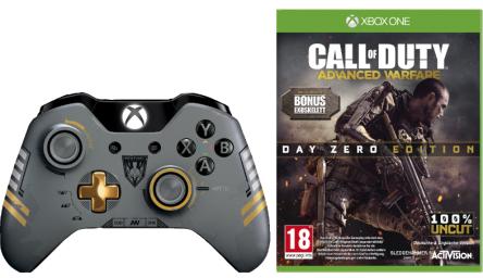 Xbox One Bundle - Call of Duty: Advanced Warfare + Wireless Controller für 77 € - 36% sparen