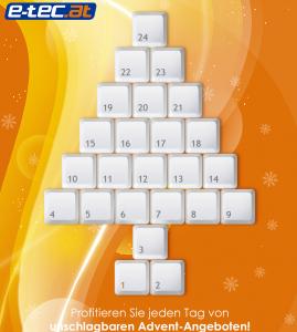 E-Tec Adventkalender - jeden Tag ein neues Angebot