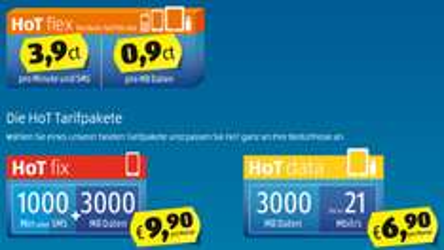 Hofer Telekom: HoT-Tarife im Überblick *Update* HoT passt Datentaktung ab März an