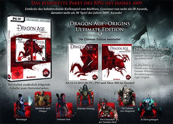 Dragon Age: Origins (Ultimate Edition) für 2,99 € bei Amazon - 60% sparen