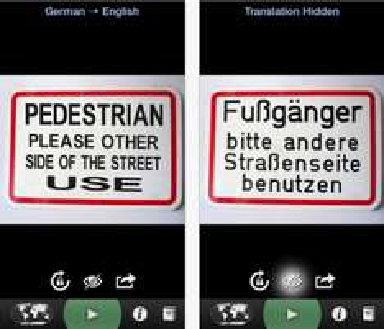 """Word Lens Translator"" In-App-Käufe kostenlos für iOS - 8x 0,99 € sparen"