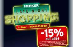 "Merkur ""Late Night Shopping"": 15% auf fast Alles 18 - 21 Uhr - am 14.08.2015"