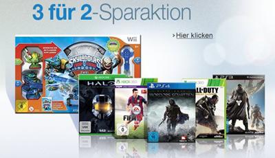 Amazon: 3 Games kaufen, nur 2 zahlen - bis 18.1.2015