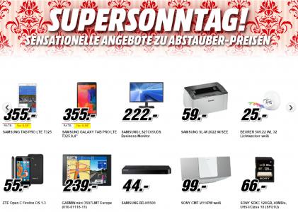 Media Markt Supersonntag – 11 Artikel im Angebot – bis zu 37% sparen