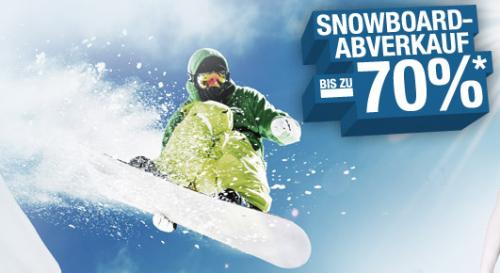 """Hervis Sports: """"Snowboard"""" Abverkauf - bis zu 70% sparen"""