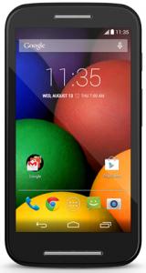 Motorola Moto E (4,3 Zoll, Android 4.4.2 KitKat, 5 MP) um 81,87 € - 17% sparen