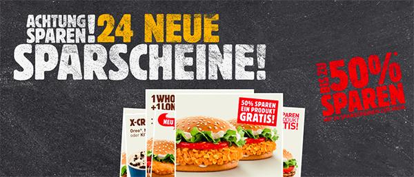 Gutscheinheft für Burger King Deutschland - gültig bis März 2015