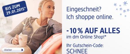 DM Drogeriemarkt: -10% auf alles im Onlineshop