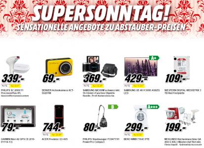 Media Markt Supersonntag – 10 Artikel im Angebot – bis zu 28% sparen