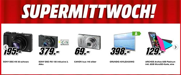 Supermittwoch bei Media Markt Österreich - die Angebote vom 04.02. im Preischeck
