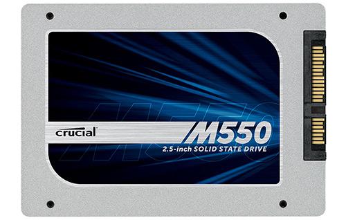 """SSD-Speicher Crucial M550 (512 GB, 2,5"""") für 159,90 €"""