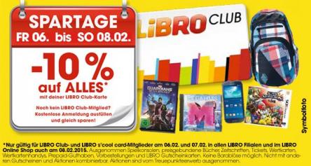Libro Spartage: 10% Rabatt auf fast alles für Libro Club-Mitglieder