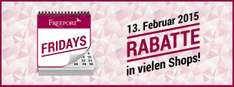 "Freeport Fashion Outlet: ""Valentinstag-Special"" mit bis zu 70% Rabatt - am 13.2.2015"