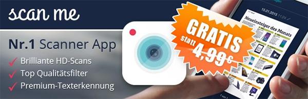 scan me | PDF Scanner & Texterkennung (iOS) erstmals gratis - statt 4,99 €
