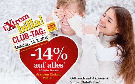 Billa: 14% Rabatt auf fast alles mit Billa-Karte - ab einem Einkauf von 14 €