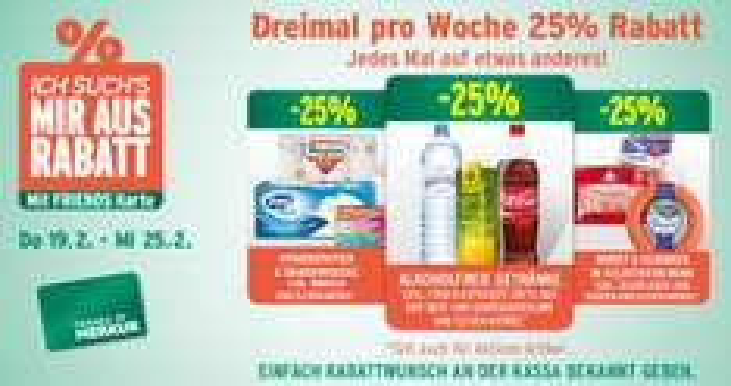 Merkur: 25% Rabatt auf alkoholfreie Getränke - bis 25.2.2015