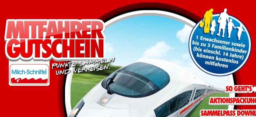 Mitfahrergutschein für die Deutsche Bahn von Ferrero