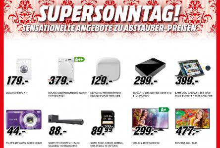 Media Markt Supersonntag – 10 Artikel im Angebot – bis zu 29% sparen