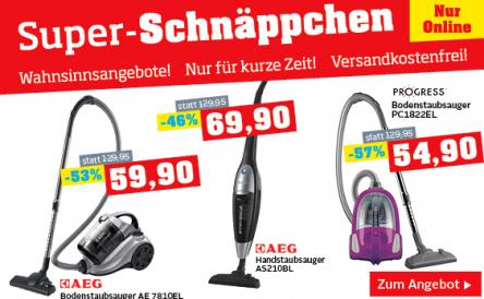 Möbelix: Staubsauger Sale - bis zu 31% sparen