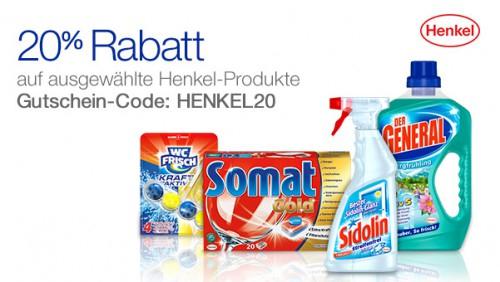 Amazon: 20% Rabatt auf Henkel-Produkte