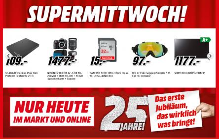 """Media Markt """"Supermittwoch"""": 5 Aktionsartikel – bis zu 25% sparen"""