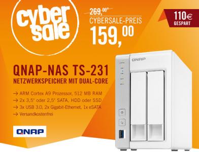 Netzwerkspeicher QNAP TS-231 für 159 € - 24% sparen