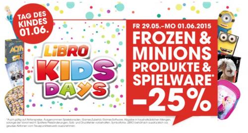 Libro: 25% Rabatt auf Spielwaren - bis zum 1.6.2015