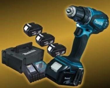 Makita DDF456SP1J 18 V inkl. 3 Akkus für 236,35 Euro - 18% Ersparnis