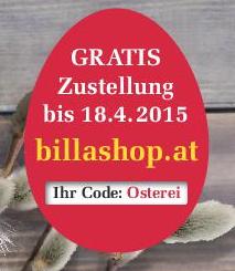 BILLA Online Shop: kostenlose Lieferung bis 18.4.2015