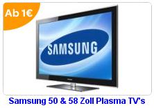 Ebay WOW Auktionen - Samsung PS-50B859, Samsung PS-58B859, Asus Eee PC 1008HA und HTC S740