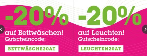 Mömax: 20% auf Bettwäsche und Leuchten - bis 19.4.2015