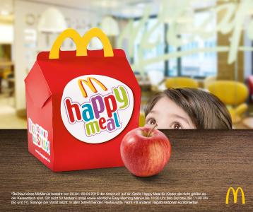 McDonald's: Gratis Happy Meal beim Kauf eines McMenüs (für Kinder, kleiner als die Kassa-Theke)