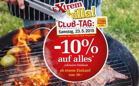 Billa: 10% Rabatt auf fast Alles - mit Billa-Karte - am 23.5.2015