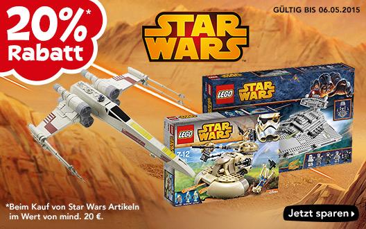 """Toys""""R""""Us: 20% Rabatt auf alle Star Wars Artikel - Nur bis zum 6. Mai 2015"""