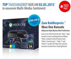 Müller: Microsoft Xbox One (500GB) Halo: The Master Chief Collection Bundle für 299€ - Nur am 2. Mai