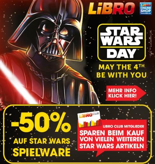 Libro: 50% Rabatt auf Star Wars Spielware - u.a. mit: LEGO Star Wars - Mos Eisley Cantina für 39,99€