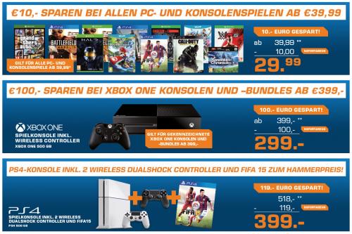 Saturn Gaming-Angebote bis zum 9. Mai - u.a. 100€ Rabatt auf Xbox One Bundles