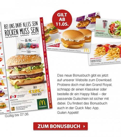 [Top] Neue McDonald's Gutscheine für Österreich - gültig bis 07.06.2015