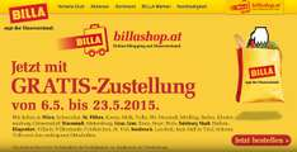Billashop.at – gratis Zustellung bis 23.5.2015 – 5,99 € sparen