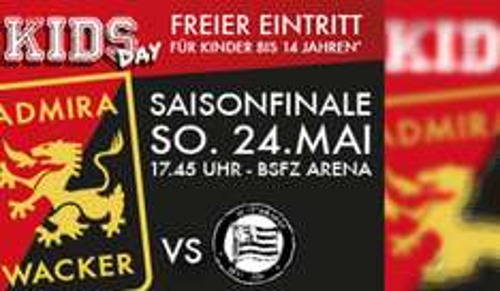 """Gratis Eintritt für Kinder (bis 14) zu """"FC Admira Wacker : SK Sturm Graz"""" - am 24.5.2015"""