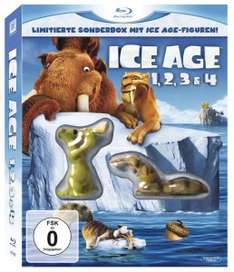 [Amazon] Ice Age 1, 2, 3 & 4 (Limitierte Sonderbox mit Ice Age Figuren!) [Blu-ray] für 11,06€ / 14,06€