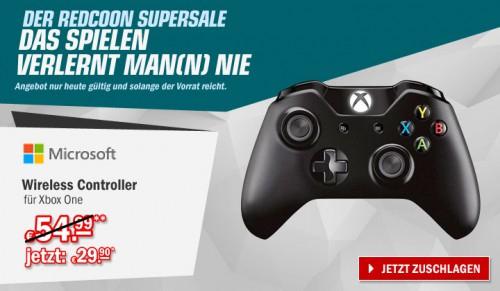 Redcoon Supersale am 14. Mai 2015 - Microsoft Xbox One Wireless Controller für 30,50€