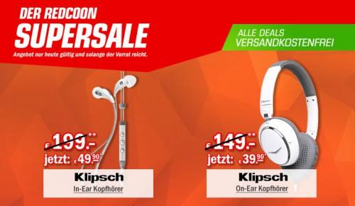 Redcoon Supersale am 21. Mai 2015 - u.a. mit: Klipsch Image X7i In-Ear-Ohrhörer mit Mikrofon für 49,90€