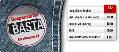 Schnäppchencheck: Telering Studenten-Tarif Gesponserter Basta